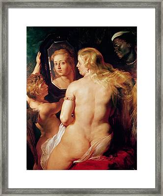 The Toilet Of Venus Framed Print by Peter Paul Rubens