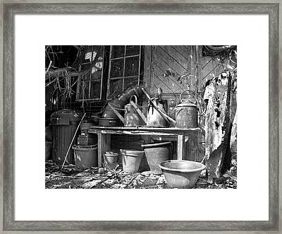 The Tool Shed Framed Print by Brian Roscorla