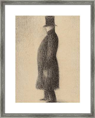 The Top Hat Framed Print by Georges Pierre Seurat