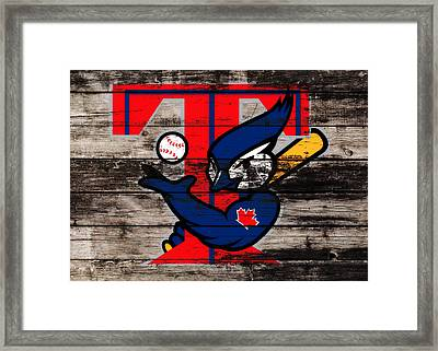 The Toronto Blue Jays 1b Framed Print by Brian Reaves