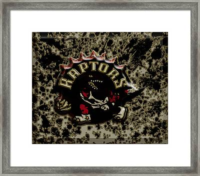 The Toronto Raptors 1a Framed Print by Brian Reaves