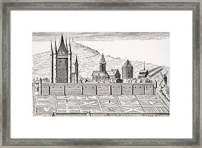 The Tower Of The Temple In Paris From Framed Print by Vintage Design Pics