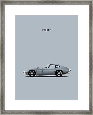 The Toyota 2000gt Framed Print by Mark Rogan
