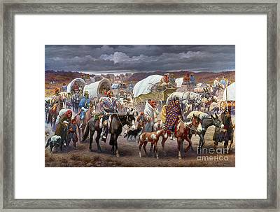 The Trail Of Tears Framed Print by Granger