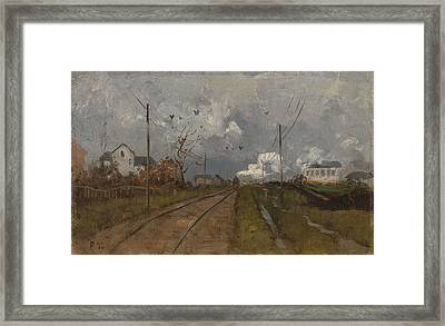 The Train Is Arriving Framed Print by MotionAge Designs