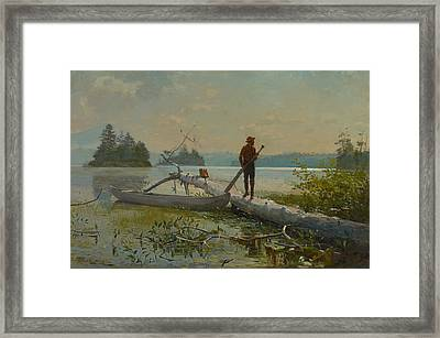 The Trapper Framed Print by Winslow Homer