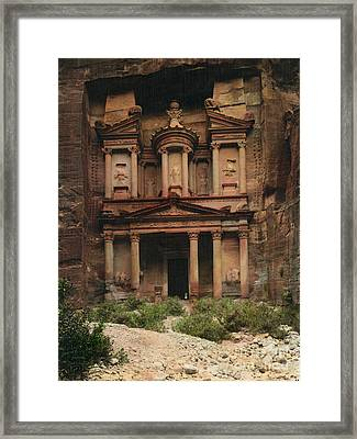 The Treasury Petra Framed Print by Celestial Images