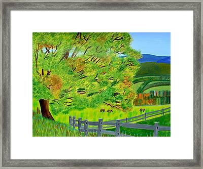 The Tree Of Joy Framed Print by Magdalena Frohnsdorff