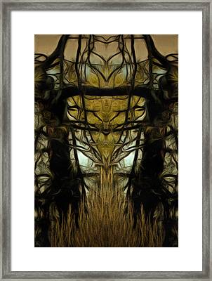 The Tree Triptych Panel 2 Framed Print by Dorothy Berry-Lound