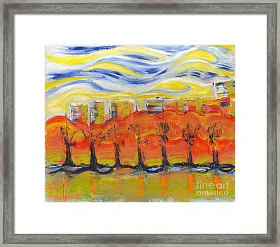 The Trees In Red. Day_march, 28  2015, Nizhny Novgorod, Russia Framed Print by Tatiana Chernyavskaya