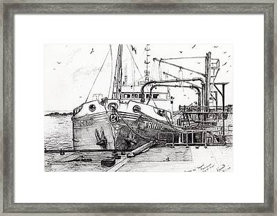 The Trinity  Port Ellen  Isle Of Islay Framed Print by Vincent Alexander Booth