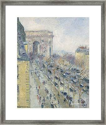 The Triumph Arch And Friedland Avenue Framed Print by MotionAge Designs