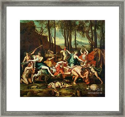 The Triumph Of Pan Framed Print by Nicolas Poussin