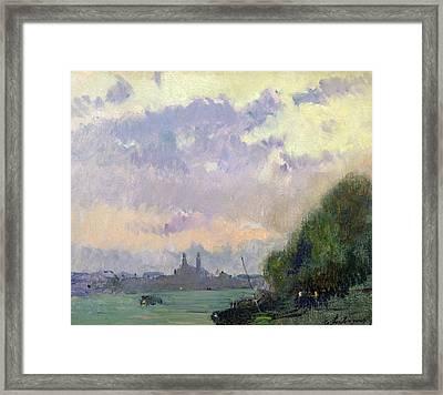 The Trocadero Framed Print by Albert Charles Lebourg
