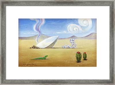 The Truth About Roswell Framed Print by John Deecken