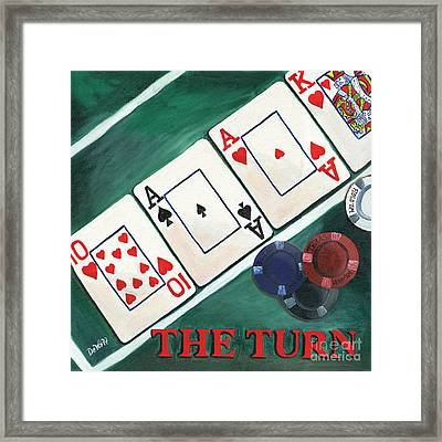 The Turn Framed Print by Debbie DeWitt