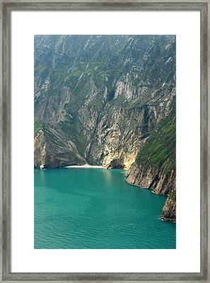The Turquoise Water At Slieve League Sea Cliffs Donegal Ireland  Framed Print by Pierre Leclerc Photography