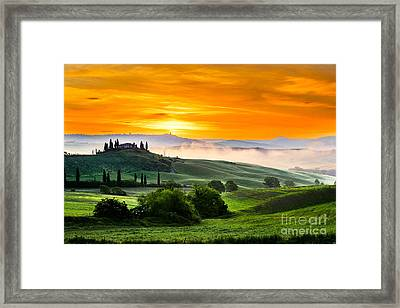The Tuscan Morning Framed Print by Yuri Santin