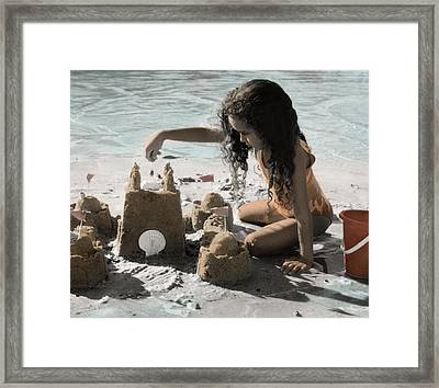 The Twelve Gifts Of Birth - Imagination 1 Framed Print by Jill Reger