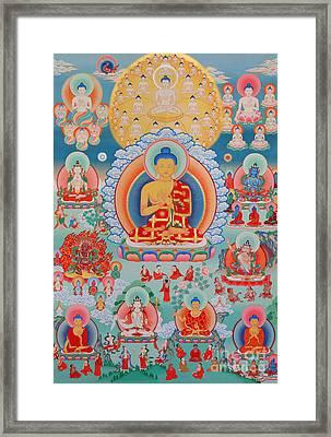 The Twelve Primordial Teachers Of Dzogchen - Tonpa Chu Ni Framed Print by Sergey Noskov