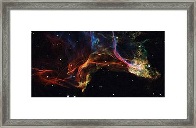 The Twisted Shockwaves Of An Exploded Star Framed Print by Nasa