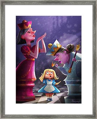 The Two Queens, Nursery Art Framed Print by Kristina Vardazaryan