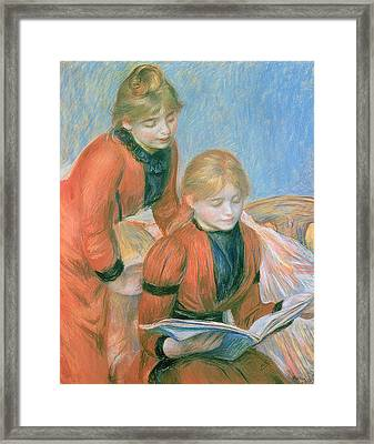 The Two Sisters Framed Print by Pierre Auguste Renoir