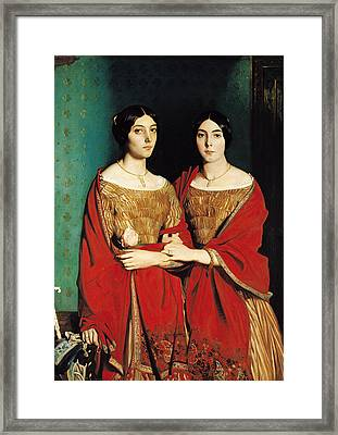 The Two Sisters Framed Print by Theodore Chasseriau
