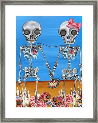 The Two Skeletons Framed Print by Jaz Higgins