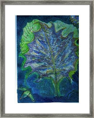 The Underside Of The Autumn Leaf Framed Print by Anne-Elizabeth Whiteway