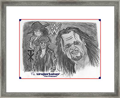 The Undertaker Framed Print by Chris  DelVecchio