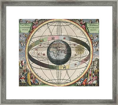 The Universe Of Ptolemy Harmonia Framed Print by Science Source