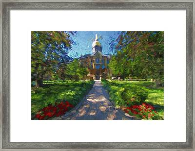 The University Of Notre Dame Framed Print by Dan Sproul