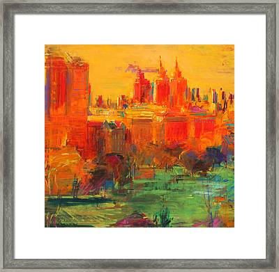 The Upper West Side Framed Print by Peter Graham