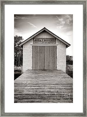 The U.s. Life Saving Service Boathouse Framed Print by Olivier Le Queinec