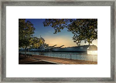 The Uss New Jersey Framed Print by Marvin Spates