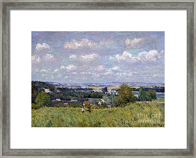 The Valley Of The Seine At Saint Cloud Framed Print by Alfred Sisley