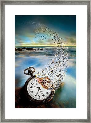 The Vanishing Time Framed Print by Sandy Wijaya