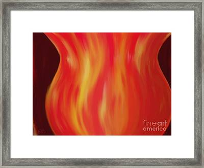 The Vase Framed Print by Roxy Riou