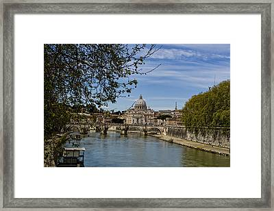 The Vatican By Day Framed Print by Michelle Sheppard