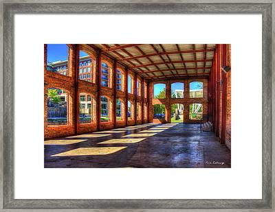 The Venue Old Mill Wedding Venue Reedy River South Caroline Art Framed Print by Reid Callaway