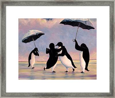The Vettriano Penguins Framed Print by Michael Orwick