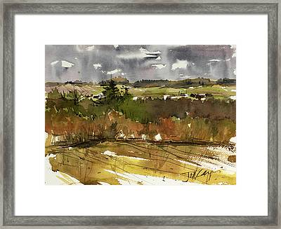 The View On Burlingame Road Framed Print by Judith Levins