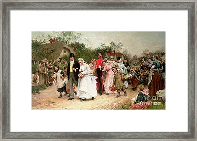The Village Wedding Framed Print by Sir Samuel Luke Fildes