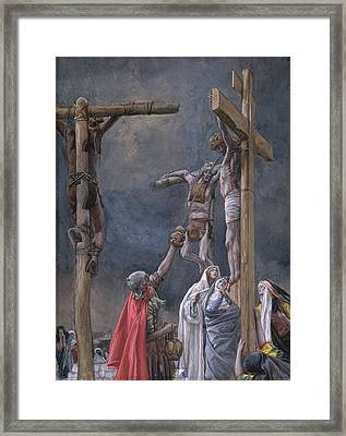 The Vinegar Given To Jesus Framed Print by Tissot