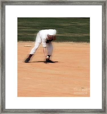 Baseball In The 1860s  Framed Print by Steven  Digman