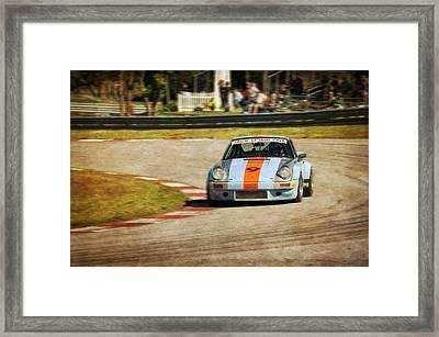 The Vintage Porsche Framed Print by John Adams