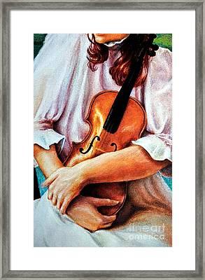 The Violin Framed Print by Georgia's Art Brush