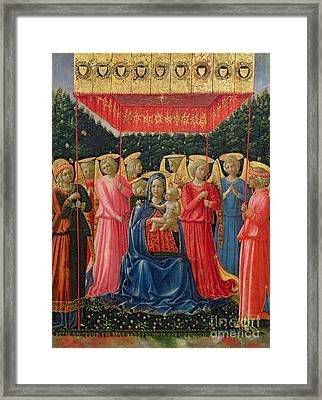 The Virgin And Child With Angels Framed Print by Fra Angelico