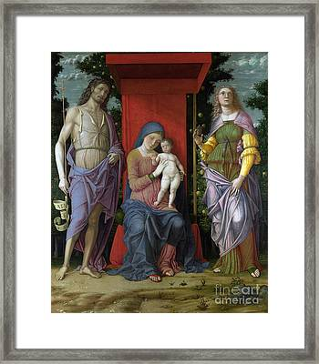 The Virgin And Child With Saints Framed Print by Celestial Images